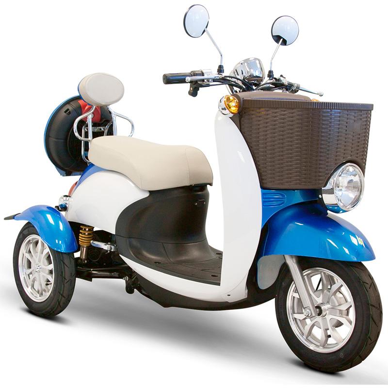 eWheels EW-11 Sport Electric 3-Wheel Scooter - Blue/White