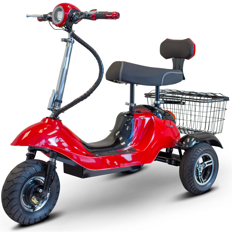 eWheels EW-19 Electric 3-Wheel Mobility Scooter - Red