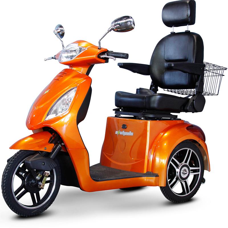 eWheels EW-36 Electric 3-Wheel Mobility Scooter - Orange