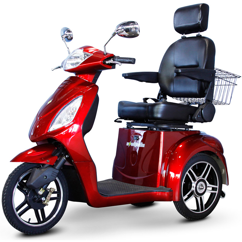 eWheels EW-36 Electric 3-Wheel Mobility Scooter - Red