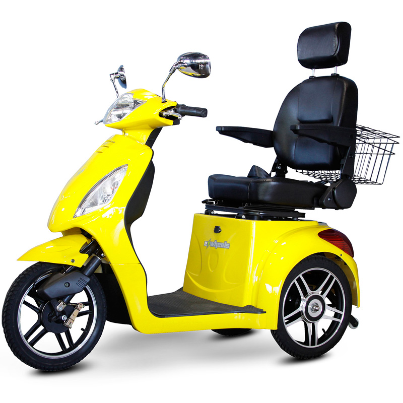 eWheels EW-36 Electric 3-Wheel Mobility Scooter - Yellow