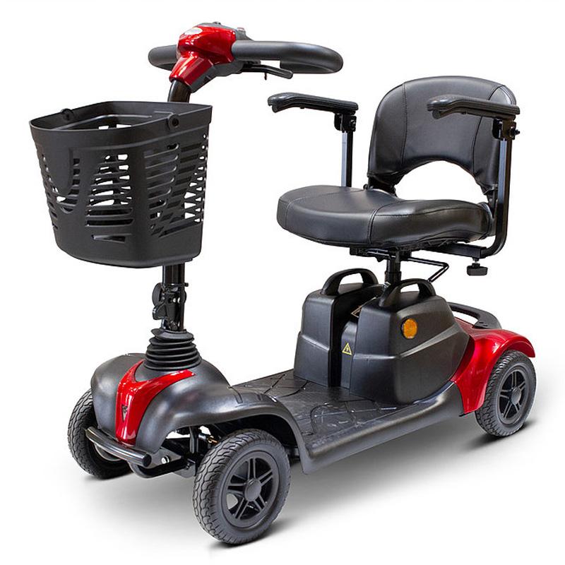 eWheels EW-39M Portable 4 Wheel Mobility Scooter - Red