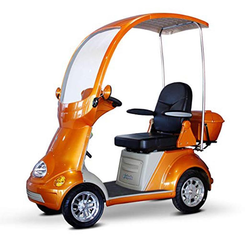 eWheels EW-54 Covered 4 Wheel Electric Scooter - Orange