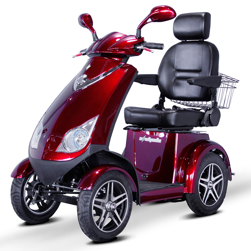eWheels EW-72 Electric 4-Wheel Mobility Scooter - Red