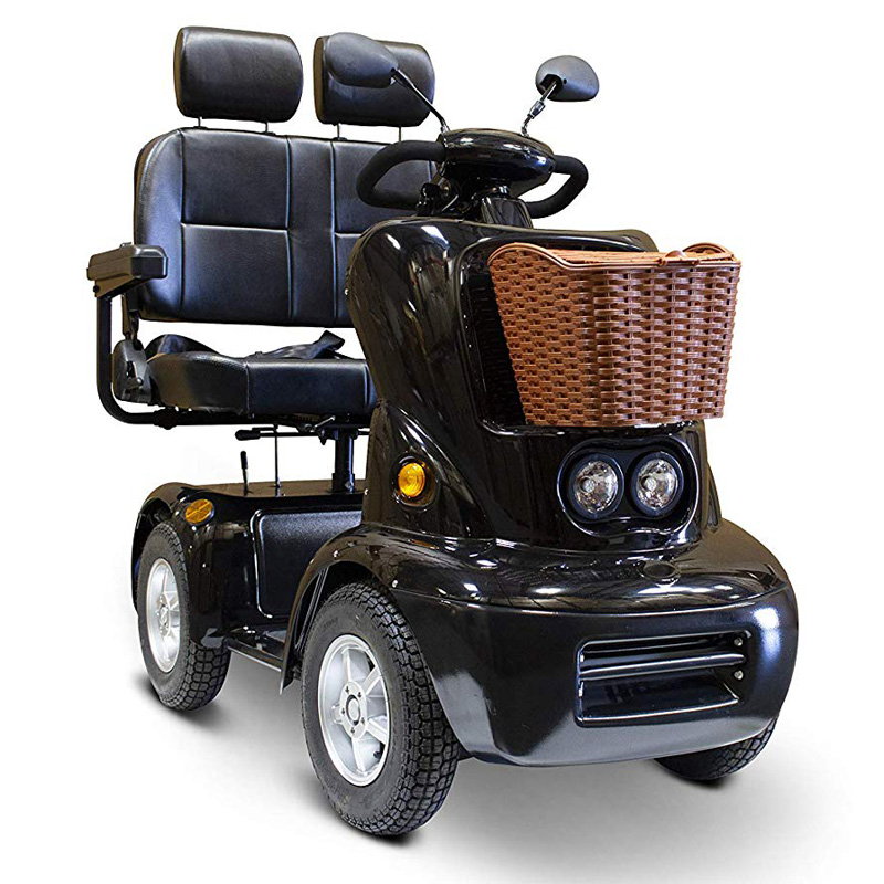 eWheels EW-88 Electric Four Wheel Dual Seat Mobility Scooter - Black