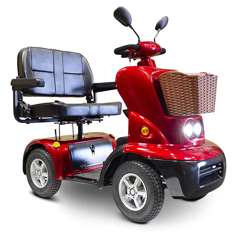 eWheels EW-88 Electric Four Wheel Dual Seat Mobility Scooter - Red
