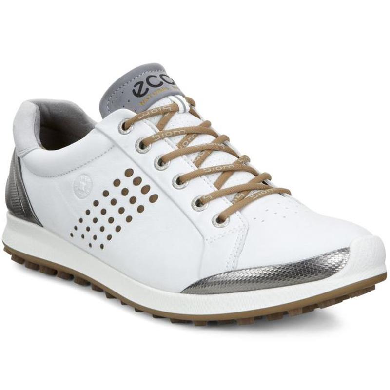 Ecco Biom Hybrid 2 Golf Shoes Mens White Mineral At Intheholegolf Com
