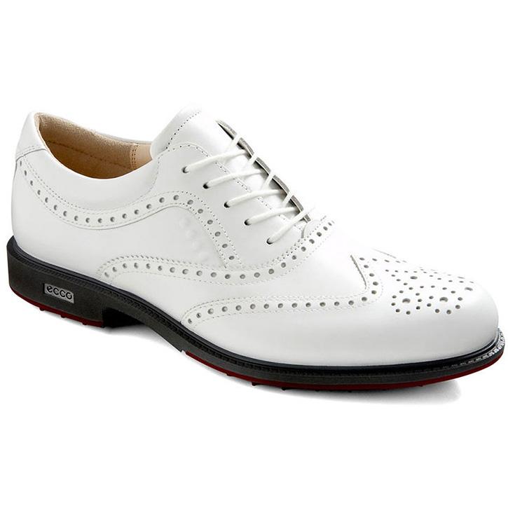 0c5a263081 Ecco Tour Hybrid Wingtip Golf Shoes - Mens White/Brick at ...
