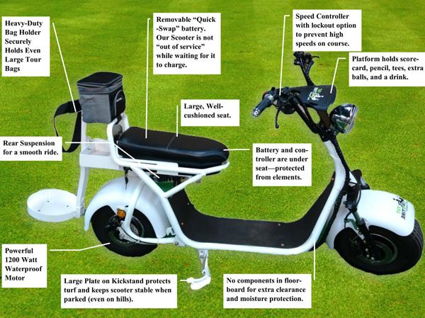 Fat Tire Electric Golf Scooter at InTheHoleGolf com