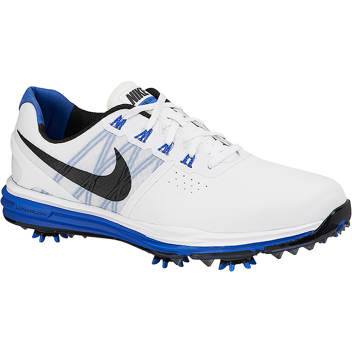 28d01ffe280b Nike Lunar Control 3 Golf Shoes - White Blue Black at InTheHoleGolf.com