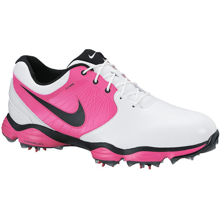 online store 54a70 1c4c3 Nike Lunar Control II Golf Shoes - Mens White Black Pink at  InTheHoleGolf.com