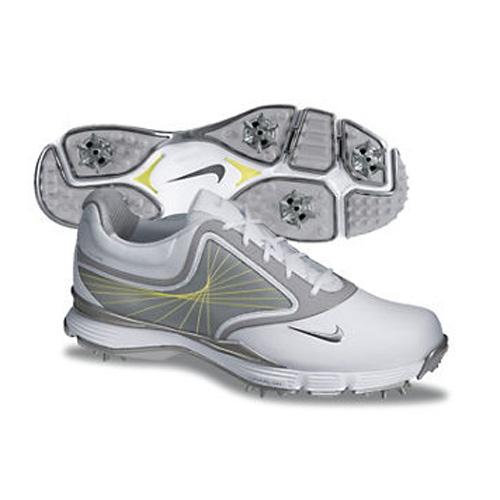 quality design 92146 cc6e9 Nike 2013 Lunar Links Golf Shoes - Womens Wide White Grey