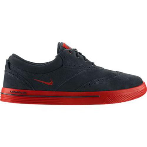 new arrivals 0c7f9 cd9d5 Nike Lunar Swingtip Suede Golf Shoes - Mens Black Red at InTheHoleGolf.com