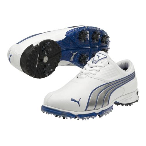 b5b0a965a52f Puma Spark Sport Golf Shoe - Mens White Silver Surf the Web at  InTheHoleGolf.com