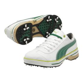 4f3c2ff7683e59 Puma Club 917 Golf Shoes - Mens White Amazon Lime Punch at InTheHoleGolf.com