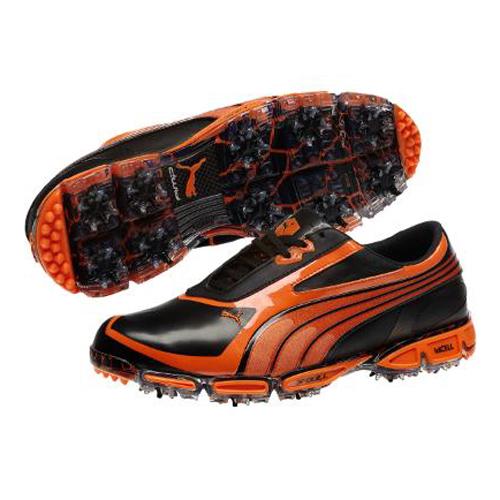 a56715c3de681d Puma Amp Cell Fusion SL Golf Shoes - Black Vibrant Orange at  InTheHoleGolf.com