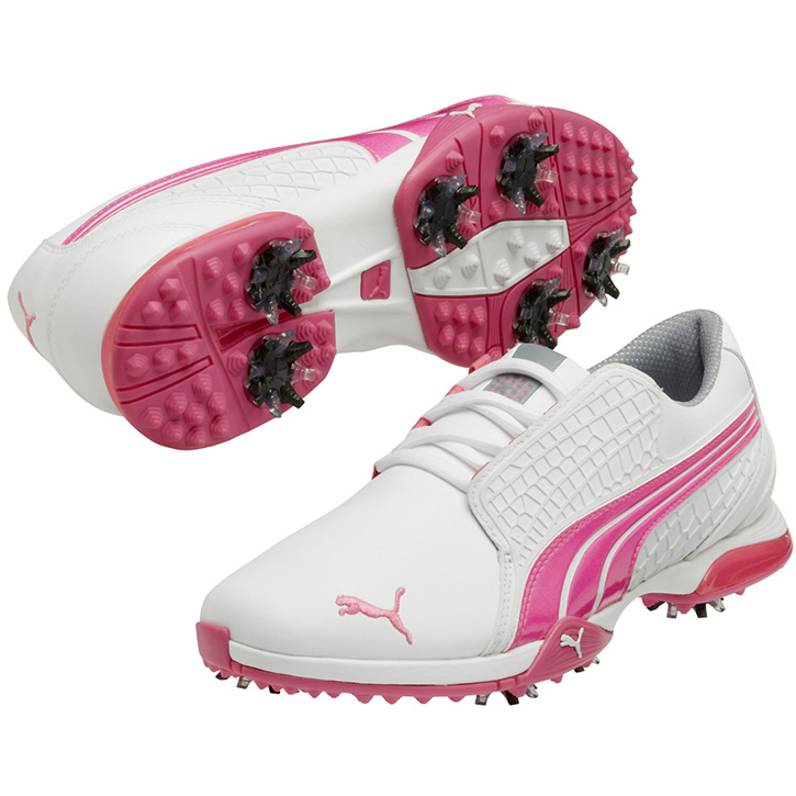 Puma Biofusion Golf Shoes Womens White Pink At Intheholegolf Com