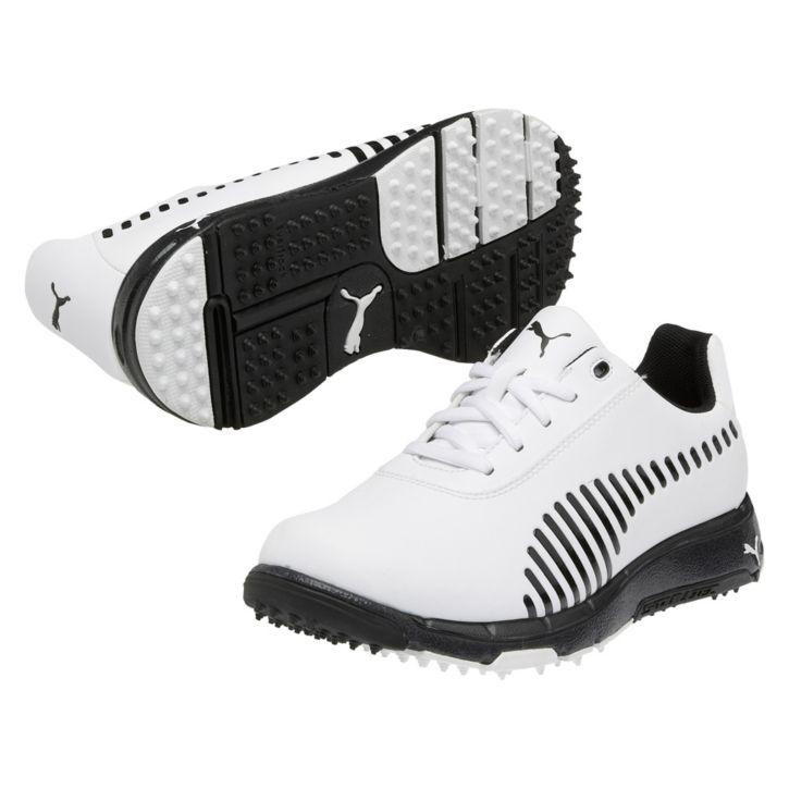 Puma FAAS Grip Golf Shoes - Junior White Black at InTheHoleGolf.com 6d5464c4f