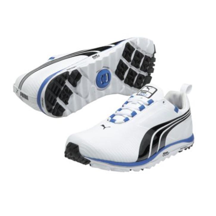 Puma FAAS Lite Golf Shoe - Mens White Black Blue at InTheHoleGolf.com f06abb02b8b9