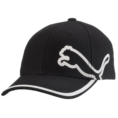 Puma Monoline Youth Relaxed Fit Golf Hat - Black White at InTheHoleGolf.com 593518424ae