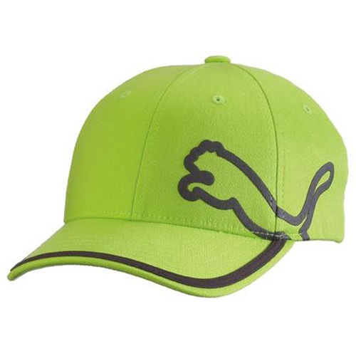 6607f480195 Puma Monoline Youth Relaxed Fit Golf Hat - Lime Green at InTheHoleGolf.com